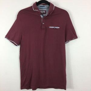 Ted Baker London Golf Short Sleeve Polo Shirt Sz 4